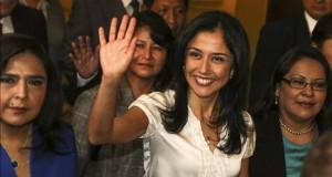 La esposa de Humala descartó haber recibido dinero del Estado venezolano La primera dama del Perú, Nadine Heredia.