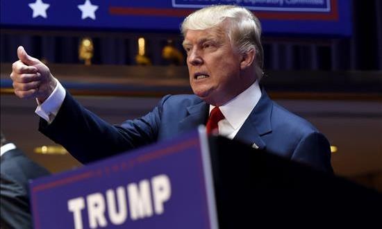 Trump predice que ganará el voto hispano pese a sus polémicos comentarios El magnate estadounidense Donald Trump en el acto de anuncio de su candidatura a la presidencia de Estados Unidos en un evento en Nueva York (Estados Unidos).