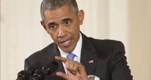 """Obama anuncia plan para dar Internet de banda ancha a miles de hogares pobres  El presidente de Estados Unidos, Barack Obama, participa en una rueda de prensa en el """"East Room"""" de la Casa Blanca hoy, miércoles 15 de julio de 2015, en Washington (EE.UU.). Obama aseguró que el acuerdo alcanzado con Irán sobre su programa nuclear permitirá al Gobierno estadounidense incentivar cambios en el comportamiento de ese país, aunque reconoció que no supondrá una normalización de las relaciones entre los dos países."""