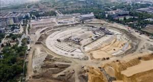 Rusia espera que un millón de extranjeros acuda a su Mundial en 2018 Vista aérea de las obras de construcción del estadio para la Copa del Mundo FIFA 2018 que se edifica en Volgogrado (Rusia) el 16 de julio de 2015. Volgogrado es una de las ciudades que albergarán los partidos del Mundial que se celebrará del 14 de junio al 15 de julio de 2018. EFE