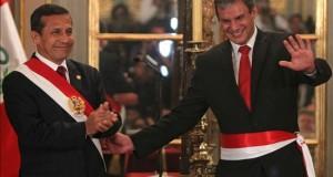 Dos exministros de Humala serán citados por la comisión parlamentaria que investiga a Belaunde En la imagen, el presidente de Perú, Ollanta Humala (i), junto al exministro de Justicia y Derechos Humanos Daniel Figallo (d).