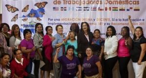 Empleadas domésticas migrantes de Latinoamérica piden respeto a sus derechos Mujeres representantes de las trabajadoras domésticas fueron registradas este viernes durante el II Encuentro Latinoamericano y del Caribe de Trabajadoras Domésticas y Migrantes, en Managua (Nicaragua).