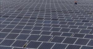 La nipona Sojitz compra el 49 % de las operaciones de T-Solar en Perú Un técnico examina una planta fotovoltaica.