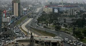 Un sismo de magnitud 5,5 en la escala de Richter se sintió en Lima Vista panorámica del centro de la ciudad de Lima.