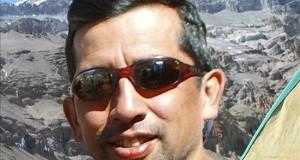 """La española """"Caminos de agua"""" es la triunfadora del undécimo Inkafest de Perú El jurado del Inkafest estuvo integrado por el primer peruano que escaló el monte Everest, Augusto Ortega (en la imagen), la montañista argentina Griselda Moreno y el cineasta peruano Roberto Barba."""