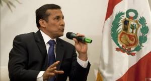 """Humala afirma que la creación de distrito fronterizo con Chile """"es irreversible"""" En la imagen un registro del presidente de Perú, Ollanta Humala."""