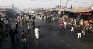 Al menos 11 muertos en un atentado talibán junto a un control policial en Pakistán Escenario del atentado con bomba perpetrado este martes contra un puesto de control de las Tropas Khasadar en un mercado en el área de Jamrud, en Peshawar, en el noroeste de Pakistán.