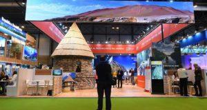 Estand de Perú en la Feria Internacional de Turismo, Fitur 2019, inaugurada en el recinto ferial Ifema de Madrid, y permanecerá abierta hasta el 27 de enero. EFE