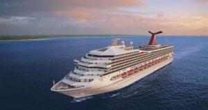 Fotografía cedida por la compañía de cruceros Carnival donde aparece su barco Carnival Victory, que albergará durante tres díasel Ocean Festival Latin Music en alta mar. EFE/Carnival