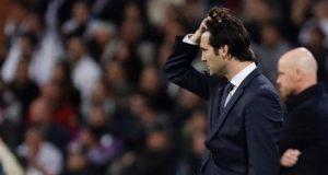 El entrenador del Real Madrid, el argentino Santiago Solari, durante el partido de vuelta de octavos de final de la Liga de Campeones que se disputó en el estadio Santiago Bernabéu. EFE