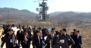Varios periodistas visitan una base de lanzamientos de misiles norcoreana. EFE/Archivo