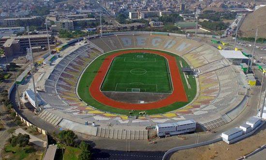 Fotografía cedida por los Juegos Panamericanos de Lima 2019 que muestra una vista del Estadio de la Universidad Nacional Mayor de San Marcos, este miércoles en la ciudad de Lima (Perú). EFE/Germán Falcón/Cortesía Panamericanos de Lima 2019