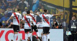 Tras este triunfo, River quedó a un paso de asegurarse la cuarta plaza y su clasificación a la fase preliminar de la edición 2020 de la Copa Libertadores. EFE/Archivo