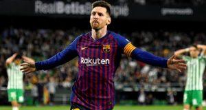 El delantero argentino del FC Barcelona, Leo Messi, celebra un gol durante un partido de la presente temporada. EFE/Archivo