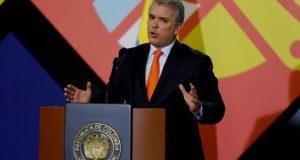 El presidente de Colombia, Iván Duque, pronuncia un discurso durante la instalación de la Macrorrueda de Negocios Bicentenario, este miércoles 3 de abril de 2019, en Bogotá (Colombia). EFE