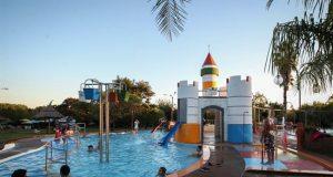 Registro del área de piscinas para niños en las Termas del Daymán, en Salto (Uruguay). EFE