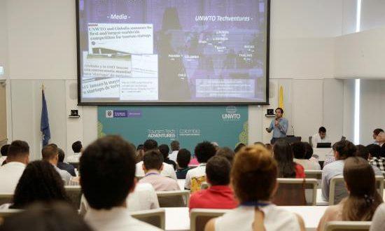 """Vista de asistentes este domingo durante la apertura de la segunda edición del """"UNWTO Tourism Tech Adventure: Scaling Up"""" organizado por el gobierno colombiano y la OMT en Cartagena (Colombia). EFE"""