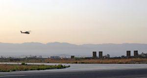 Vista parcial de base aérea Jmeimim, al noroeste de Siria.