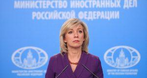 La portavoz de Exteriores de Rusia, María Zajárova