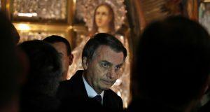El presidente de Brasil, Jair Bolsonaro, visita la iglesia del Santo Sepulcro en Jerusalén, 1 de abril de 2019.
