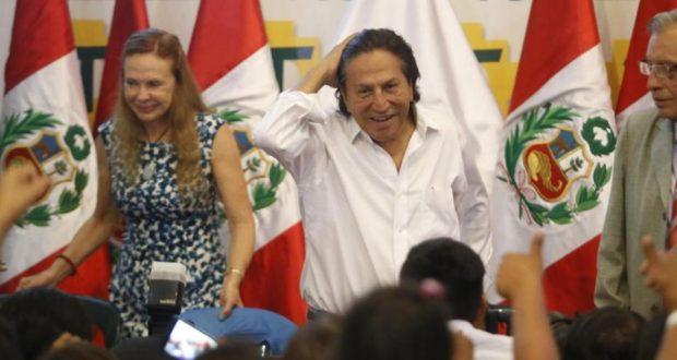 Ex presidente Alejandro Toledo es acusado junto a su esposa Eliane Karp y otros, por el presunto delito de lavado de activos (Foto: GEC).