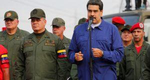 El presidente de Venezuela, Nicolás Maduro, en una base militar en Maracay, Venezuela, el 17 de mayo de 2019