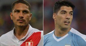 SEGUIR Perú vs. Uruguay EN DIRECTO ONLINE AQUÍ: Paolo Guerrero y Luis Suárez buscarán anotar para sus respectivas selecciones. (AFP)