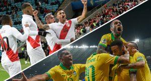 Brasil y Perú se enfrentarán en la final de la Copa América 2019, en Río de Janeiro. Juan Mabromata / Pedro Ugarte / AFP