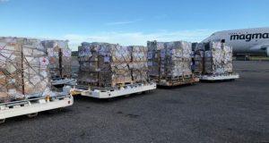 Se trata de una donación en especie de 3 millones de euros a la Federación Internacional de Sociedades de la Cruz Roja y de la Media Luna Roja.
