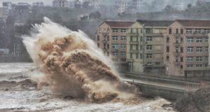 Se esperaba que el tifón Lekima golpeara la provincia oriental de Zhejiang con fuertes vientos y lluvias torrenciales. (Foto: AFP)