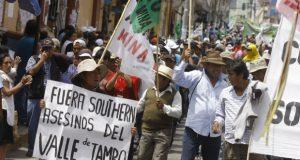 """Pablo de la Flor señaló que las protestas por Tía María han tenido un """"efecto contagio"""" con Quellaveco. (Foto: GEC)"""
