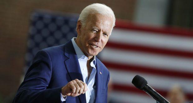 Archivo - El candidato presidencial demócrata Joe Biden habla durante un acto de campaña en Keene State College en Keene, New Hampshire, el 24 de agosto, de 2019.