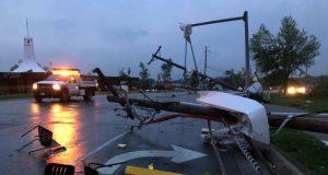 Un fuerte tornado tocó en la noche del miércoles 22 de mayo de 2019 la ciudad de Jefferson City, Missouri.